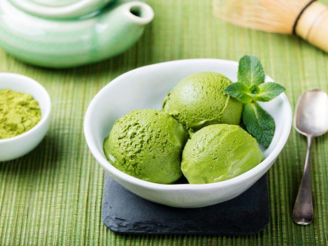 Где самое вкусное мороженое с зеленым чаем?